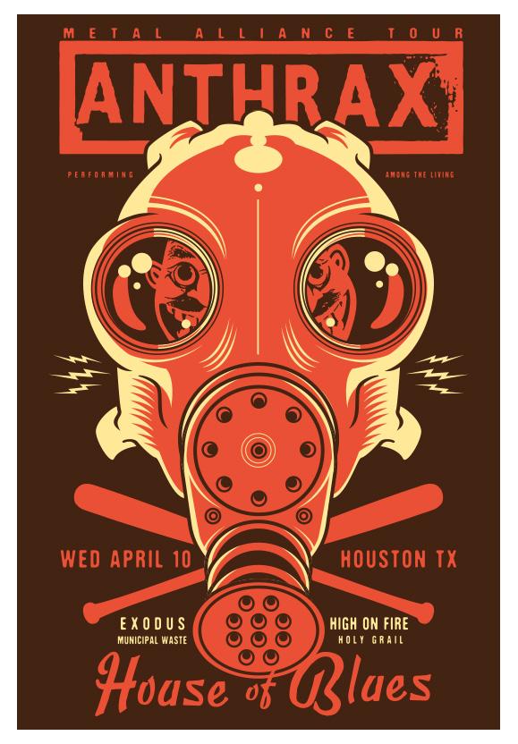 Scrojo Anthrax - Metal Alliance Tour Poster