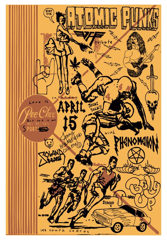 Scrojo Atomic Punks (Van Halen Tribute) Poster