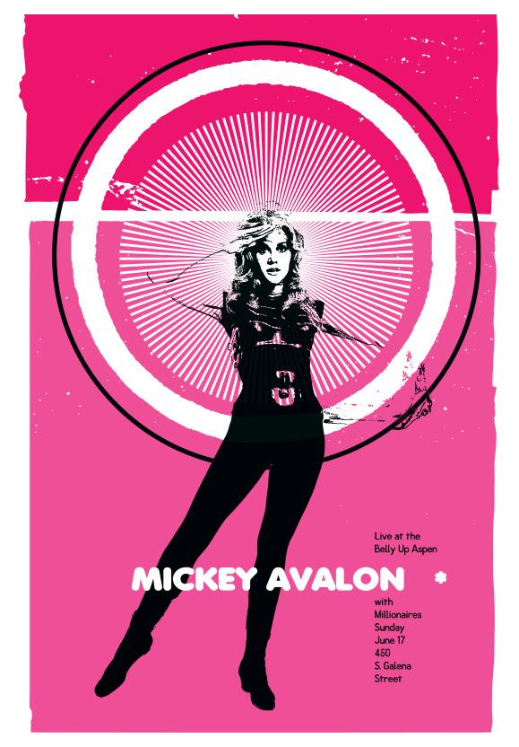 Scrojo Mickey Avalon Poster