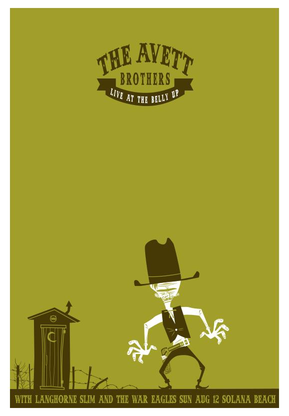 Scrojo The Avett Brothers Poster