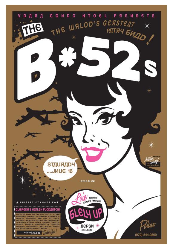 Scrojo B-52's Poster