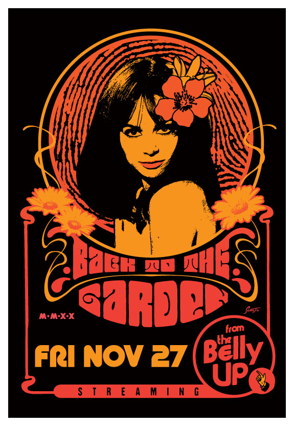 Scrojo Back to the Garden - Streaming Concert Poster