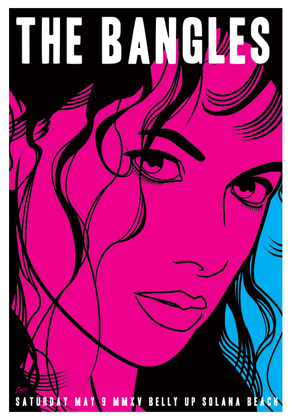 Scrojo The Bangles Belly Up Tavern, Solana Beach, CA Poster