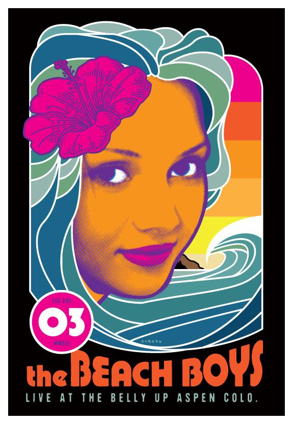 Scrojo The Beach Boys Poster