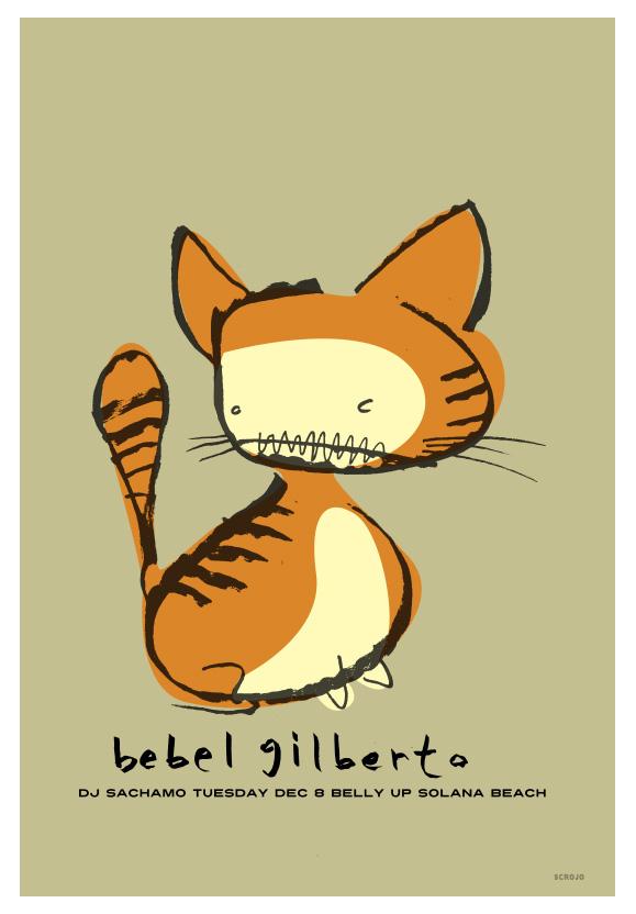 Scrojo Bebel Gilberto Poster