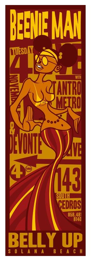Scrojo Beenie Man Poster