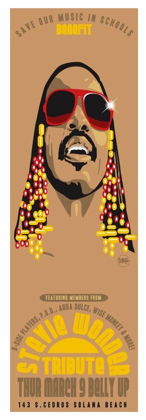 Scrojo Stevie Wonder Tribute Poster