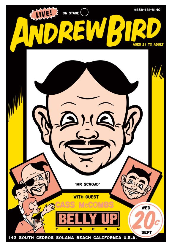 Scrojo Andrew Bird Poster
