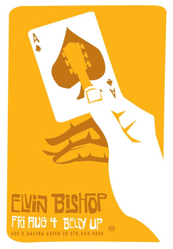 Scrojo Elvin Bishop Poster