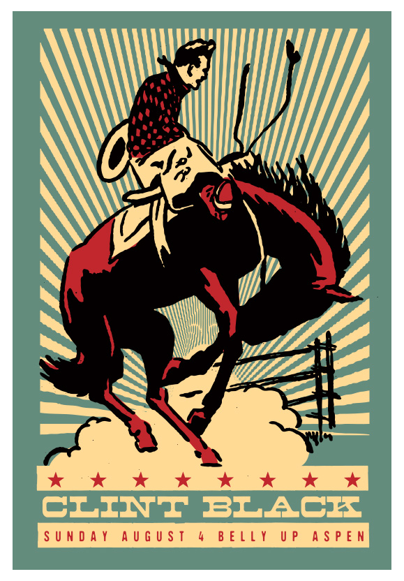 Scrojo Clint Black Poster