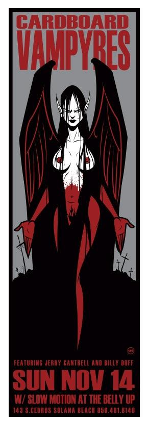 Scrojo Cardboard Vampyres Poster