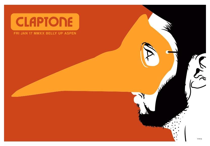 Scrojo Claptone Poster