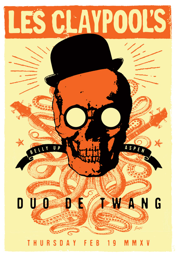 Scrojo Les Claypool's Duo De Twang (of Primus fame) Poster