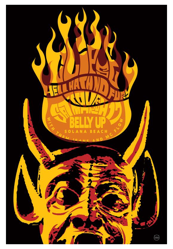 Scrojo Clipse - Hell Hath No Fury Album Release Show Poster