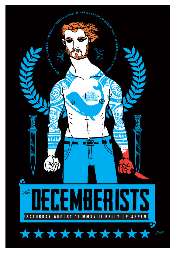 Scrojo The Decemberists Poster