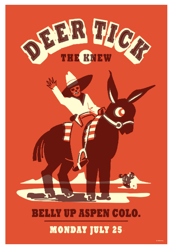Scrojo Deer Tick Poster
