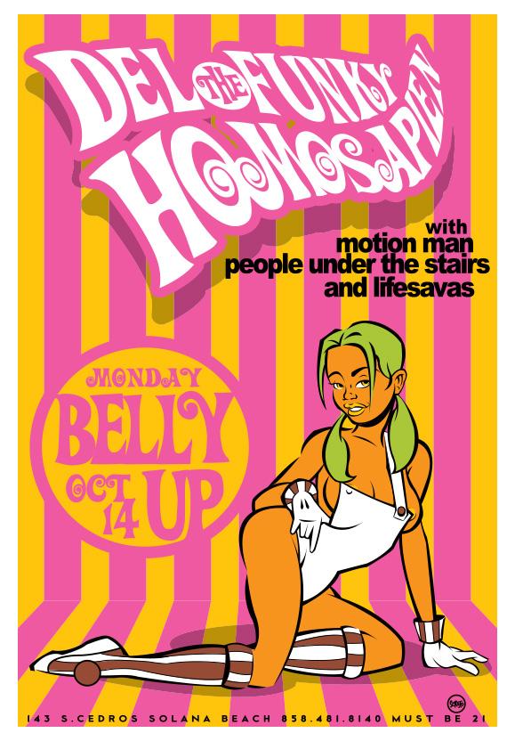 Scrojo Del The Funky Homosapien Poster