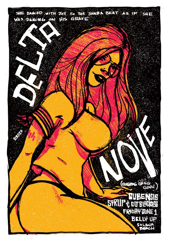 Scrojo Delta Nove featuring Greg Ginn Poster
