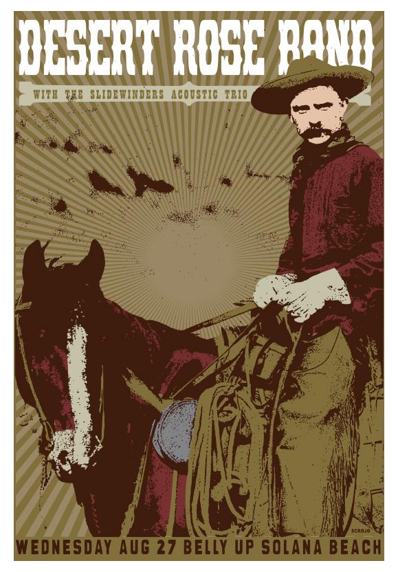 Scrojo Desert Rose Band Poster