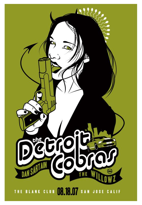 Scrojo The Detroit Cobras Poster