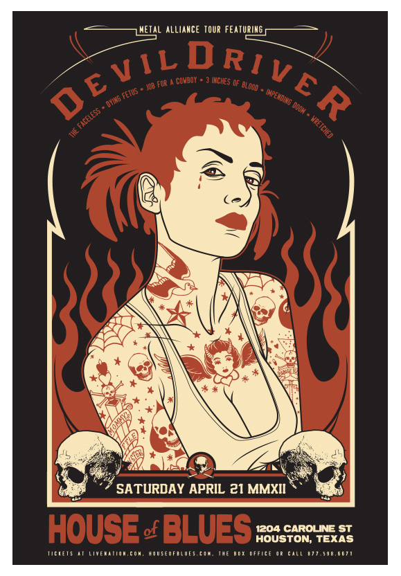 Scrojo DevilDriver - Metal Alliance Tour Poster