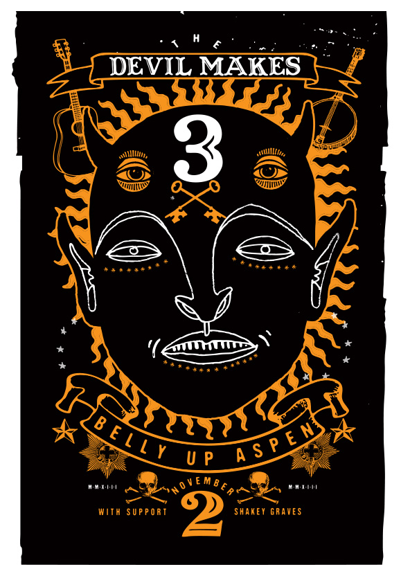 Scrojo The Devil Makes Three Poster