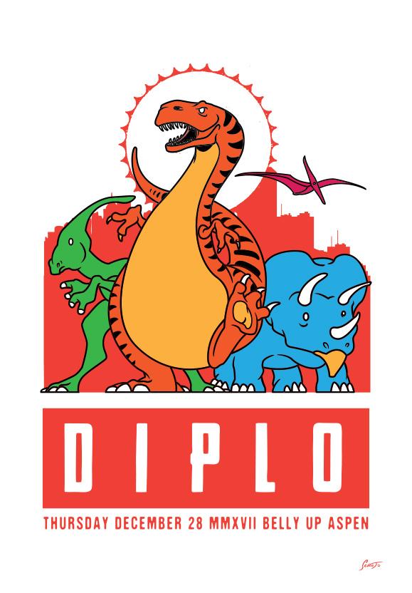 Scrojo Diplo Poster