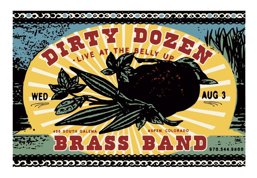 Scrojo Dirty Dozen Brass Band Poster