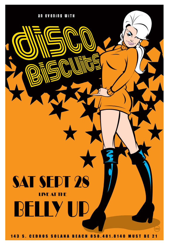 Scrojo Disco Biscuits Poster