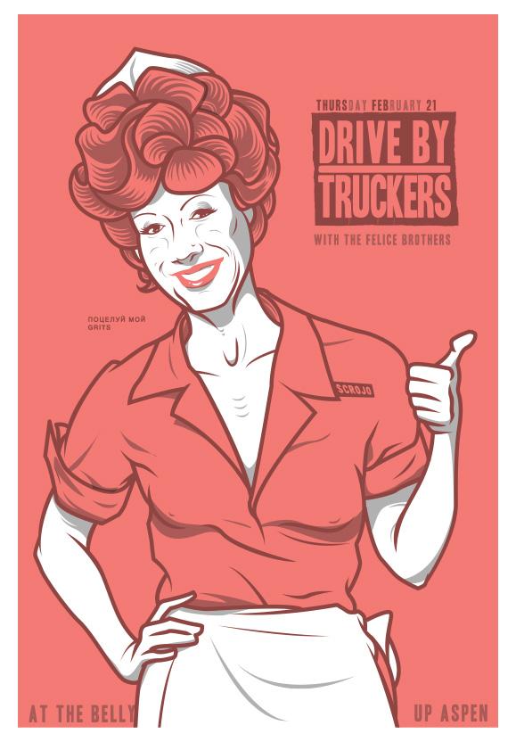 Scrojo Drive By Truckers Poster