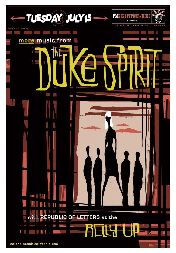 Scrojo The Duke Spirit Poster