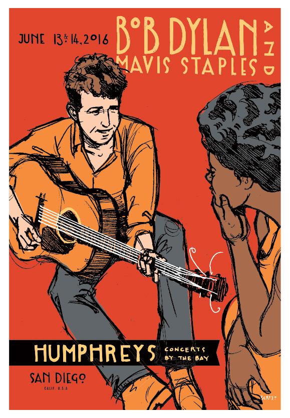 Scrojo Bob Dylan Poster