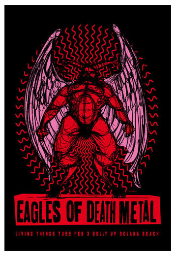 Scrojo Eagles of Death Metal Poster