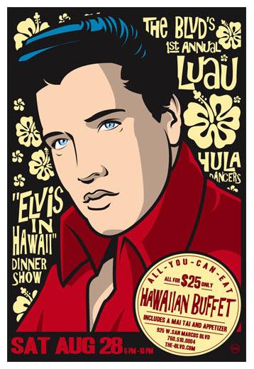 Scrojo Elvis In Hawaii Dinner Show Poster
