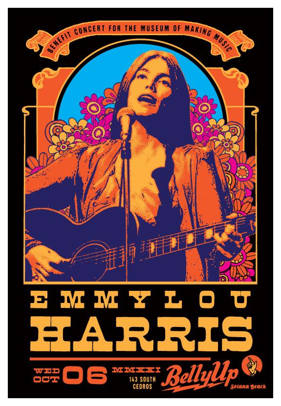 Scrojo Emmylou Harris Poster