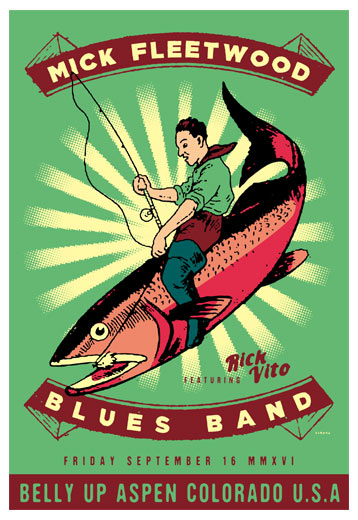 Scrojo Mick Fleetwood Blues Band Poster