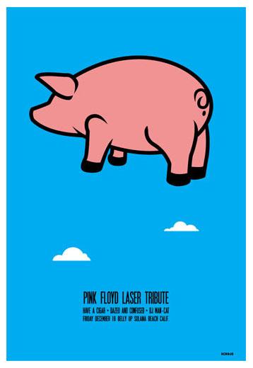 Scrojo Pink Floyd Laser Tribute Poster