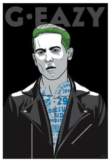 50f8d420bbc Scrojo G-Eazy G Eazy Belly Up Aspen Colorado 2017 Poster G-Eazy 1701 ...