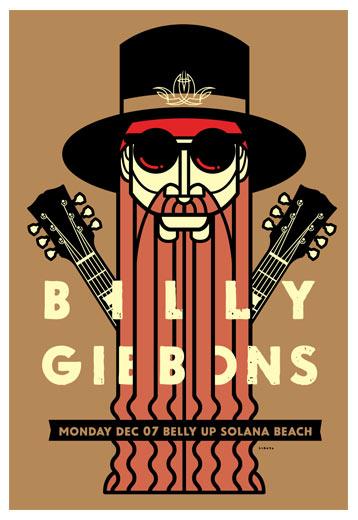 Scrojo Billy Gibbons Poster