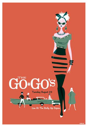 Scrojo The Go-Go's Poster