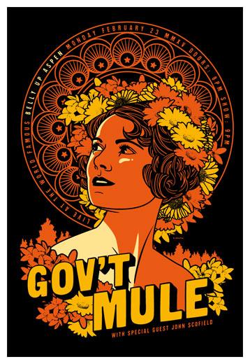 Scrojo Gov't Mule Poster