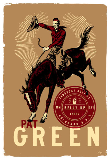 Scrojo Pat Green Poster