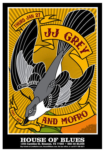 Scrojo Jj Grey And Mofro House Of Blues Houston Tx Poster