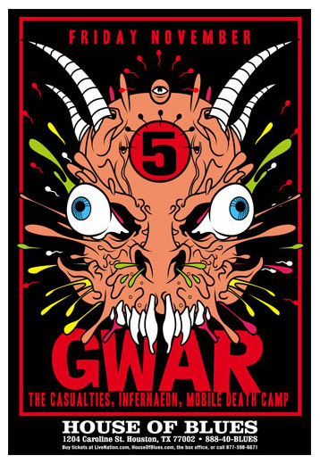 Scrojo GWAR Poster