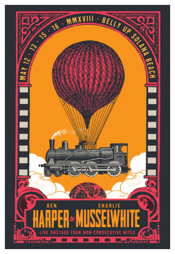 Scrojo Ben Harper and Charlie Musselwhite Poster
