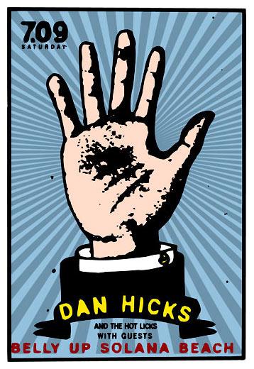 Scrojo Dan Hicks and The Hot Licks Poster