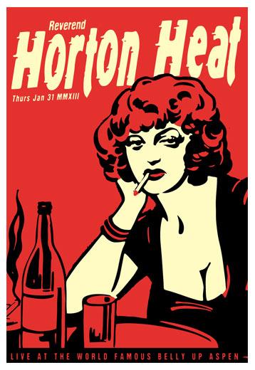 Scrojo Reverend Horton Heat Poster