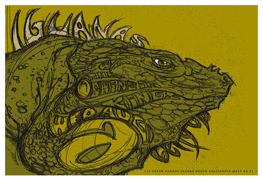 Scrojo The Iguanas Poster