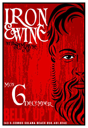 Scrojo Iron and Wine Poster