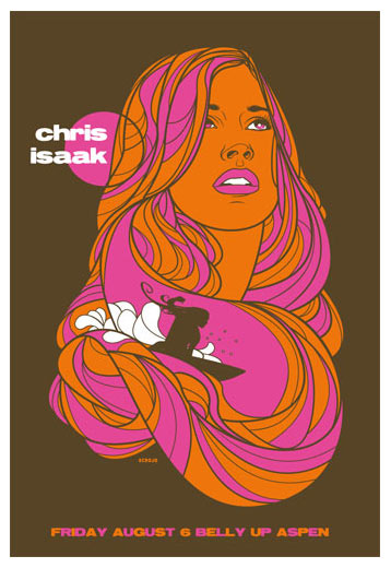 Scrojo Chris Isaak Poster